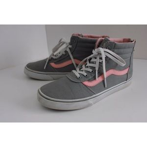 Vans Shoes - Vans Classic High Top Pink Nd Gray Skater Sneakers